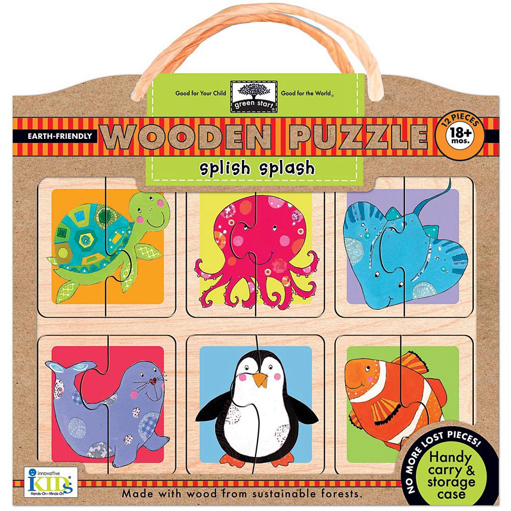 Splish Splash Wooden 12 Piece Puzzle,  Kids Puzzles by Innovative Kids