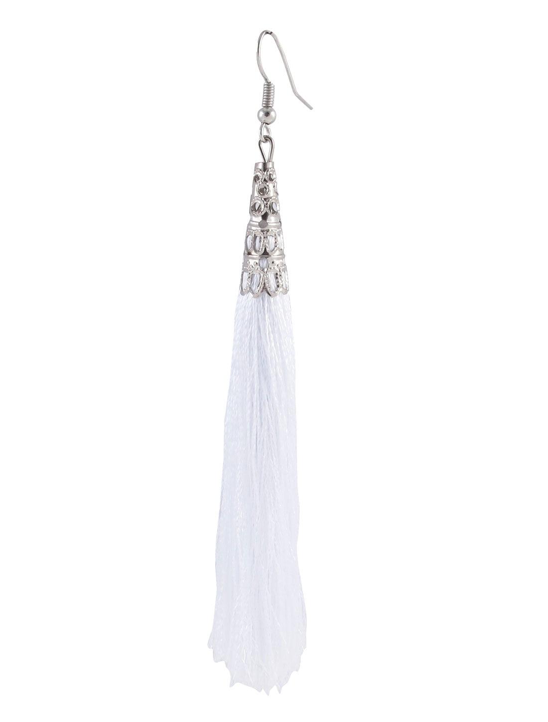 LOVELY Womens Blue Brown Multi Color Beads Dangle Drop Silver-Tone Hook Earrings