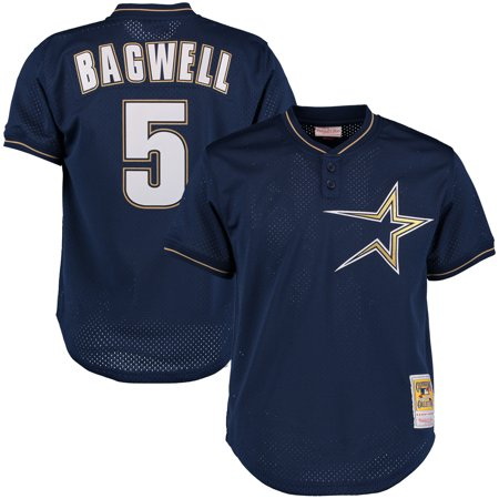 Jeff Bagwell Houston Astros Mitchell & Ness Cooperstown 1997 Mesh Batting Practice Jersey - - 1997 Anniversary Jersey