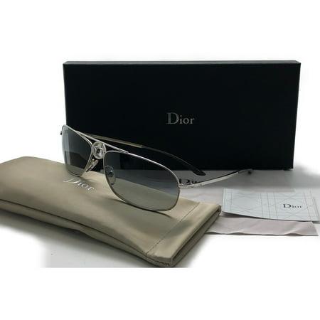 Christian DIOR Vintage Womens Designer Sunglasses Silver HIPPY 2 (Sun Glasses Dior)