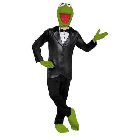 Morris Costumes DG88663D Kermit Deluxe Adult Costume, Size 42-46](Kermit Sings Halloween)