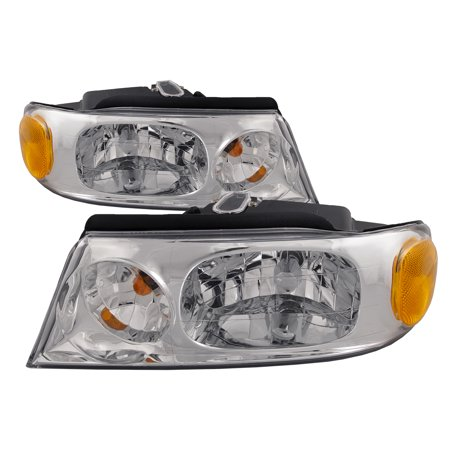 1998-2002 Lincoln Navigator/ 2002 Blackwood New Halogen Headlights Driver Left Passenger Right Pair Assembly FO2502175 & FO2503175