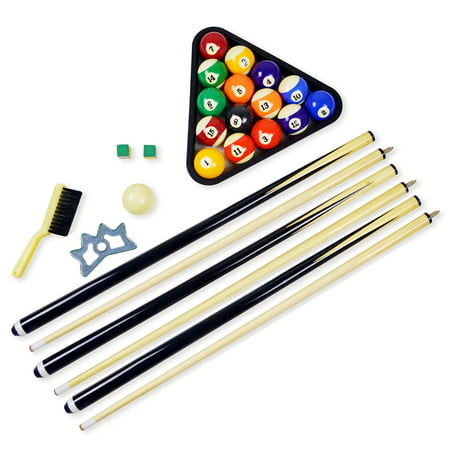 Hathaway Pool Table Billiard Accessory Kit with Cues, Rack, Chalk, (Tools Pool Cue Accessories)