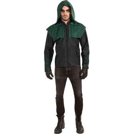 Mens Greek Halloween Costumes (Green and Black Green Arrow Men Adult Halloween Costume -)