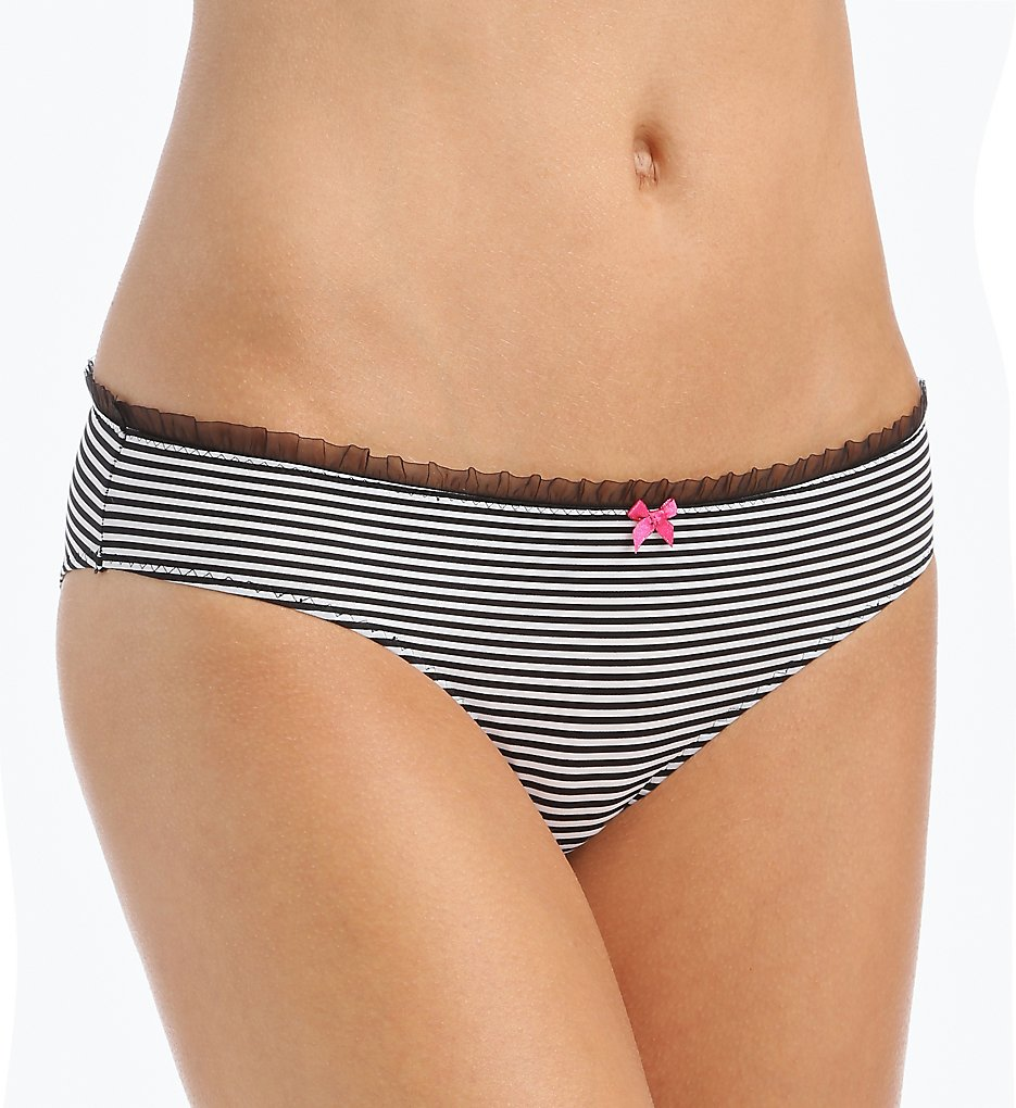Betsey Johnson Intimates 721853 Micro and Lace Peek-a-Boo Lace Bikini Panty
