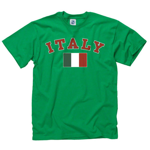 Italy Green Arch Over Country Flag T-Shirt