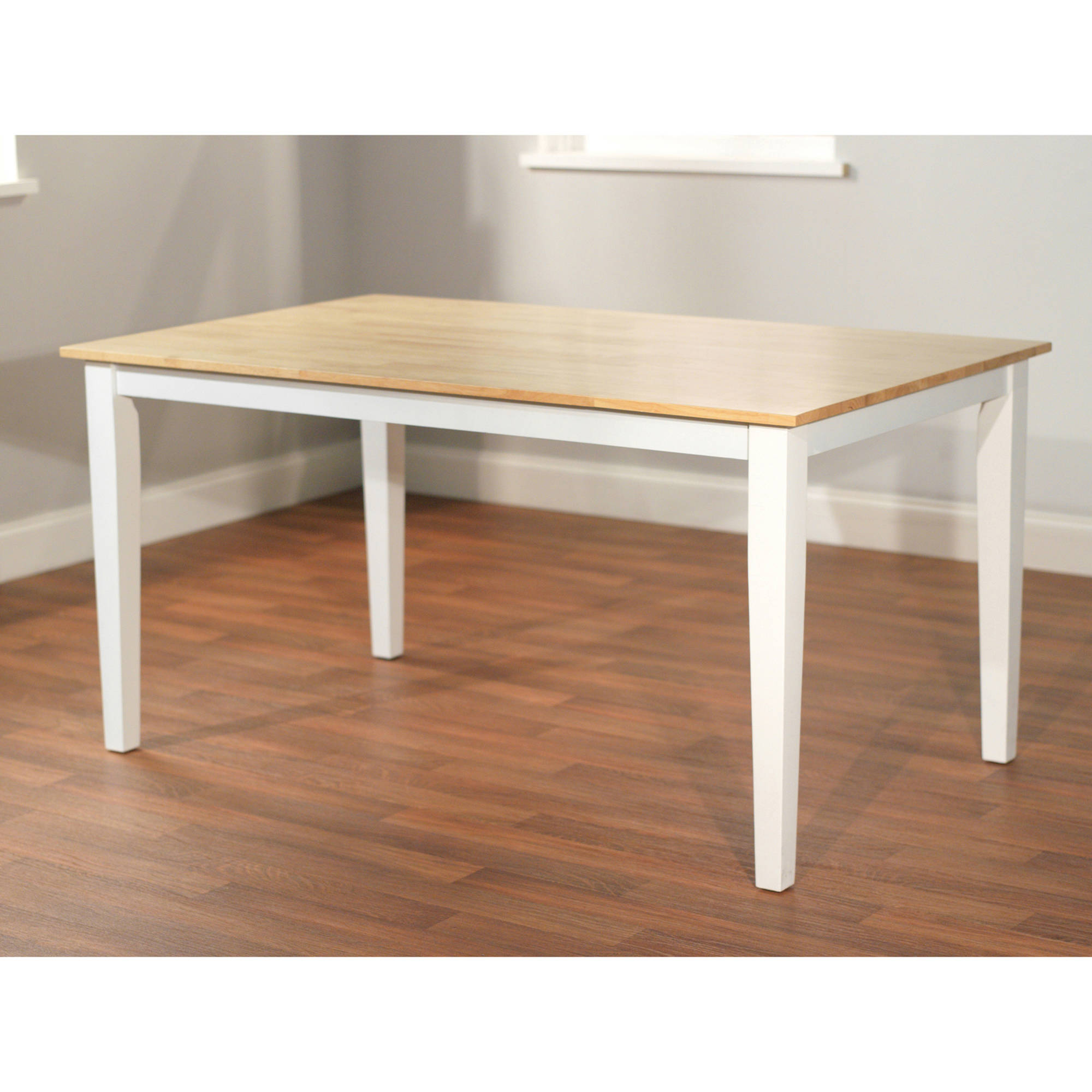 Havana Carson Large Table, White/Natural