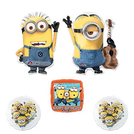 Minions Decorations (DESPICABLE ME 2 MINIONS 5 pc STEWART PARTY Extension Balloon)