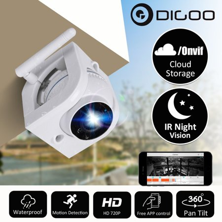 Security IP Camera, Digoo 720p HD Wireless WiFi Waterproof Outdoor Security Surveillance System with Night Vision Motion