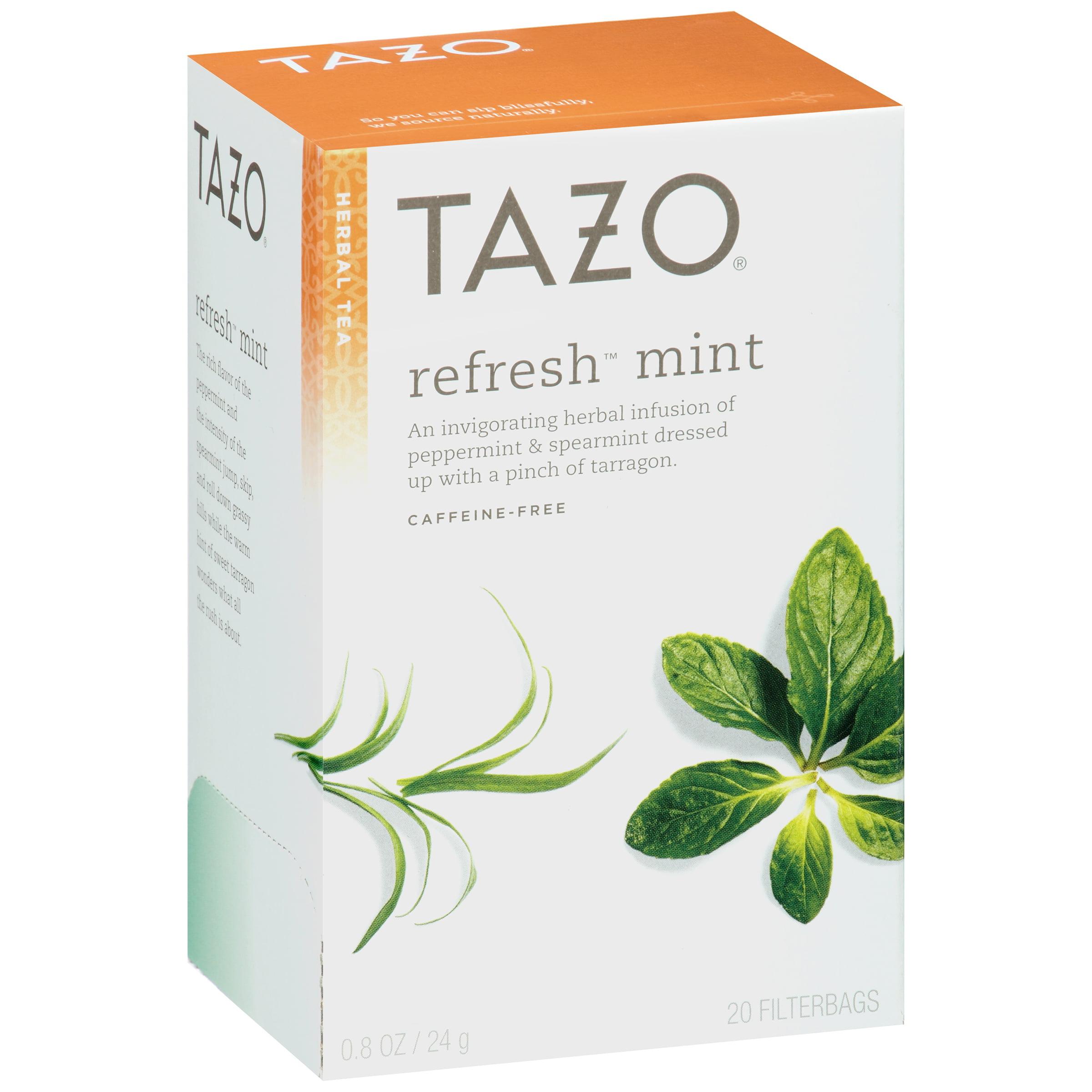 (3 Pack) Tazo Refresh Mint Tea bags Herbal Tea 20ct