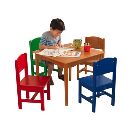 Marvelous Kidkraft Nantucket Table 4 Chair Set Multiple Colors Short Links Chair Design For Home Short Linksinfo
