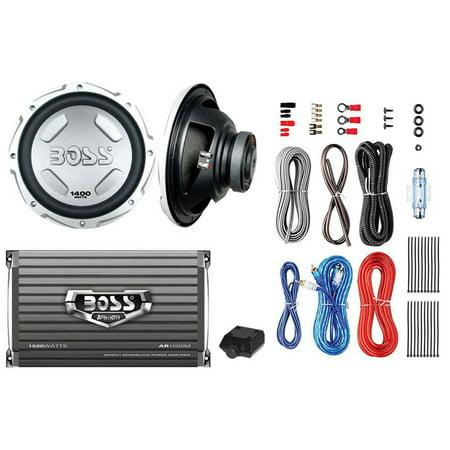 """BOSS AUDIO CX122 12"""" 1400W Car Power Subwoofer Sub + Mono Amplifier+ Amp Kit"""