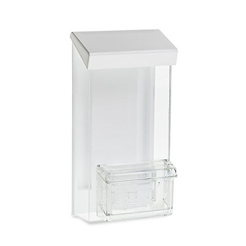 Source One Outdoor Trifold Brochure Holder with Business Card Holder, White Lid (1 Pack)