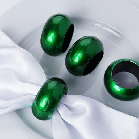 Efavormart Acrylic Napkin Rings for Place Settings Wedding Receptions Dinner or Holiday Parties Family Gatherings - Set of 4 Teal Napkin Ring