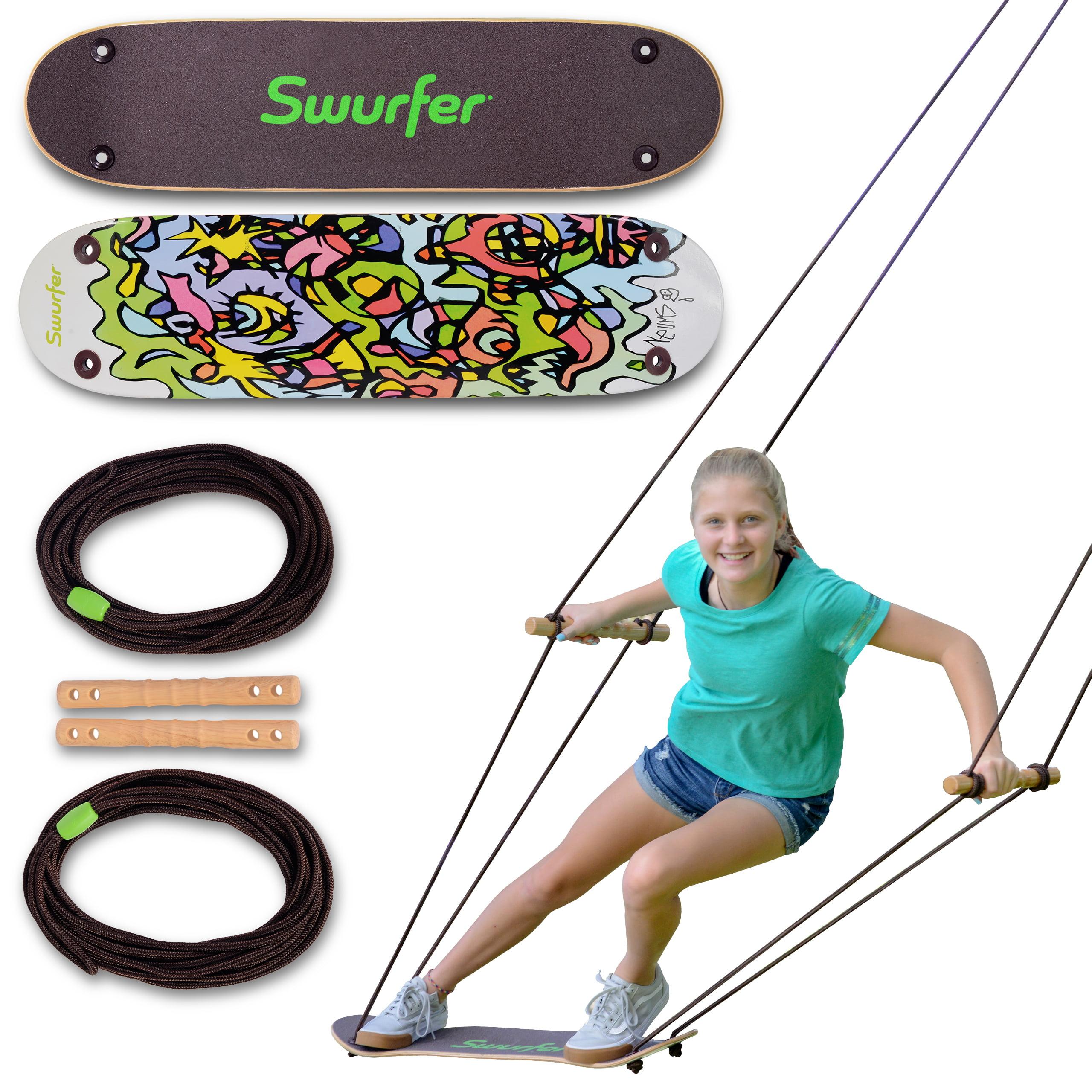 Swurfer Treeskate Undawadda Stand Up Skating Swing, Wooden ...