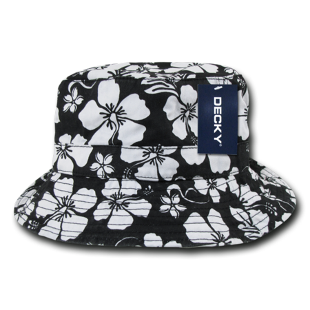 DECKY Sweatband Floral Polo Bucket Hat, Style 455 ()