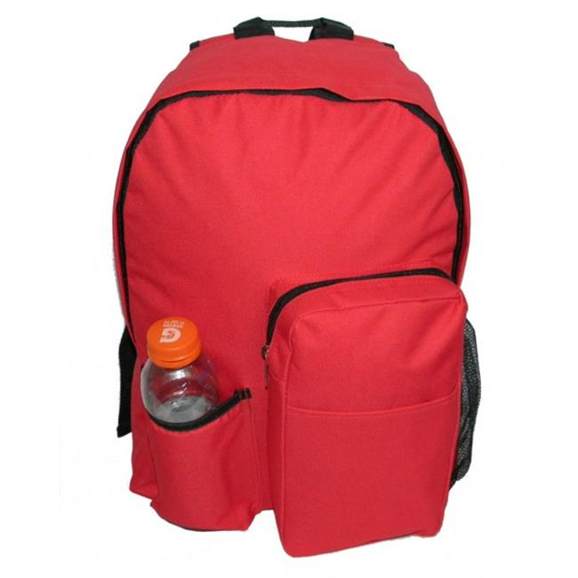 K-Cliffs Backpack With Water Bottler Holder, 17 x 12. 5 x 5. 5 inch Red