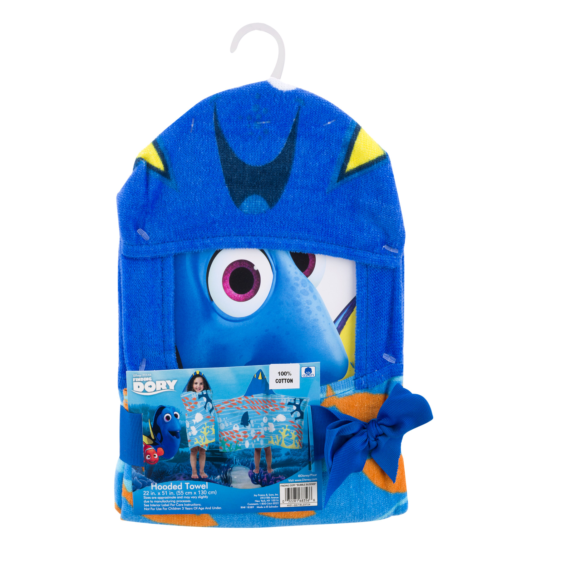 Disney Finding Dory Hooded Towel, 1.0 CT