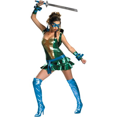 Teenage Mutant Ninja Turtles Leonardo Sassy Deluxe Adult Halloween Costume - Sea Turtle Halloween Costume