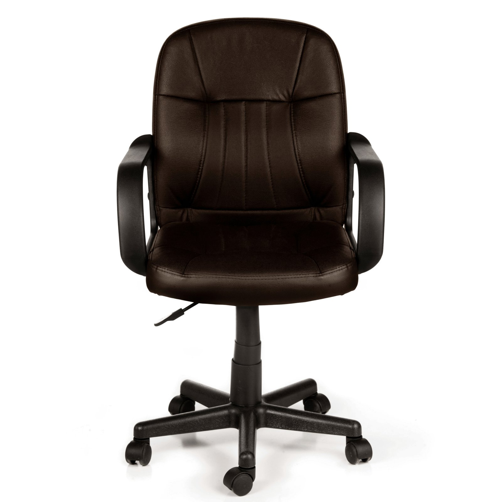 Comfort Products 60 5607M Mid Back Leather Office Chair, Black
