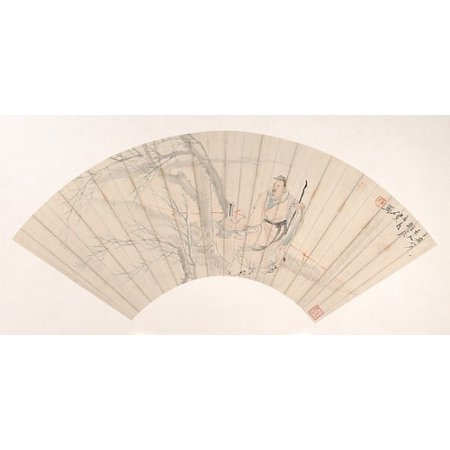 Scholar In The Wind Poster Print By Ren Xun  Chinese 1835   1893   18 X 24
