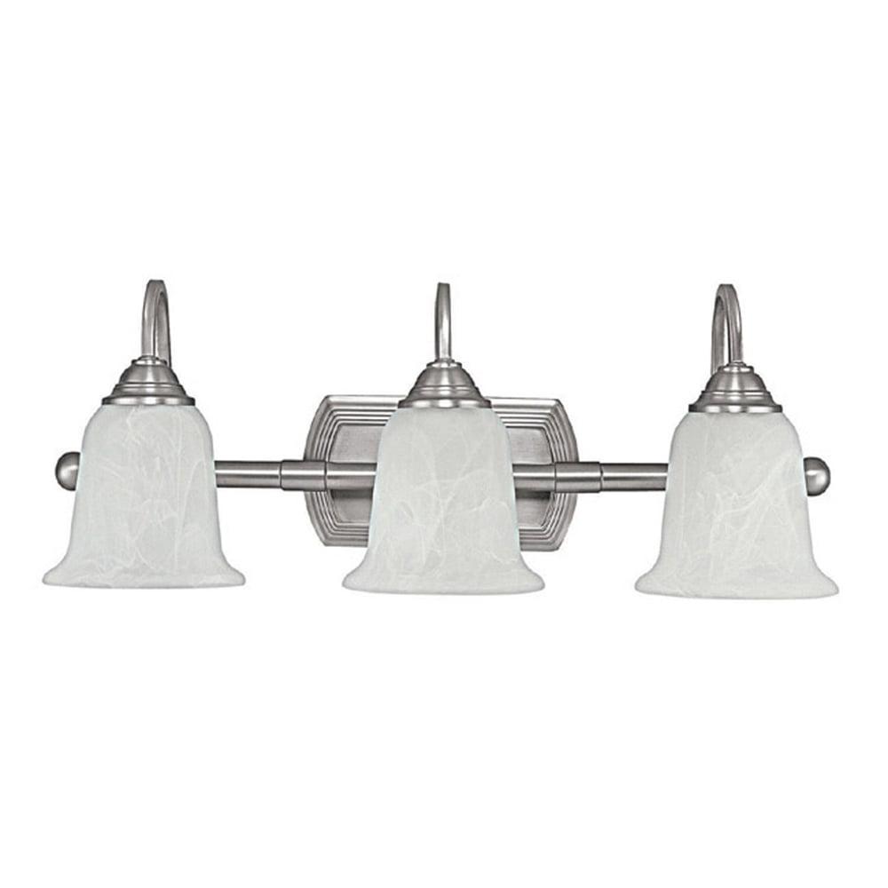 Capital Lighting Metro Matte Nickel 3 Light Vanity Fixture