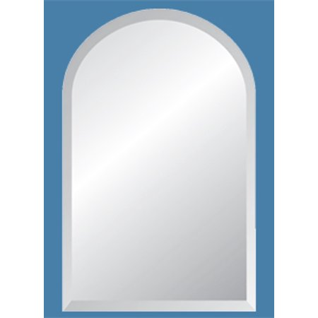 """18"""" x 30"""" Arch Frameless Mirror with Polished Beveled Edges"""