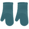 Better Homes and Garden Solid Silicone Teal Oven Mitt, Set of 2