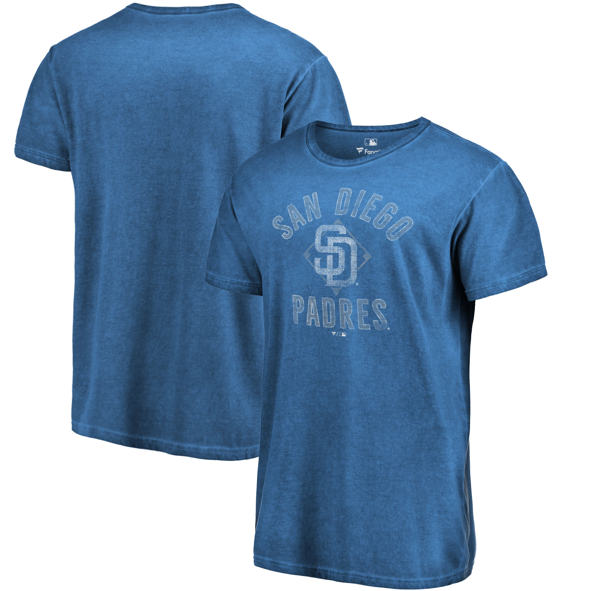San Diego Padres Fanatics Branded Shadow Washed Icon T-Shirt - Navy