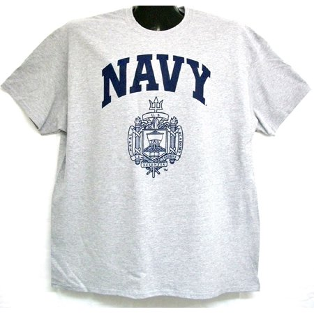 - United States Naval Academy Crest T-Shirt Grey XXL
