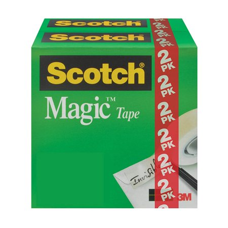 Gift Wrap Tape (Brand Magic Tape, Invisible, Photo-Safe, Great for Gift Wrapping, 3/4 x 1000 Inches, Boxed, 2 Rolls (810K2), The original matte-finish, invisible tape By Scotch )