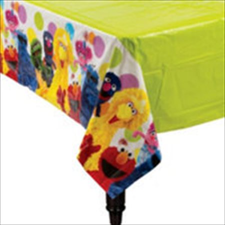Sesame Street Party Plastic Table Cover (1ct) (Sesame Place Halloween Party)