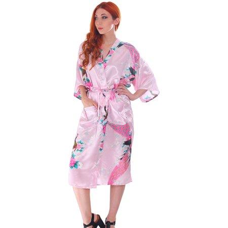 Women\'s Cotton Short Floral Robe Bathrobe Flower Bridesmaids ...