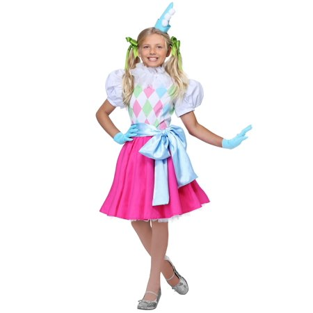 Cotton Candy Clown Girls Costume - Clown Costume Girls