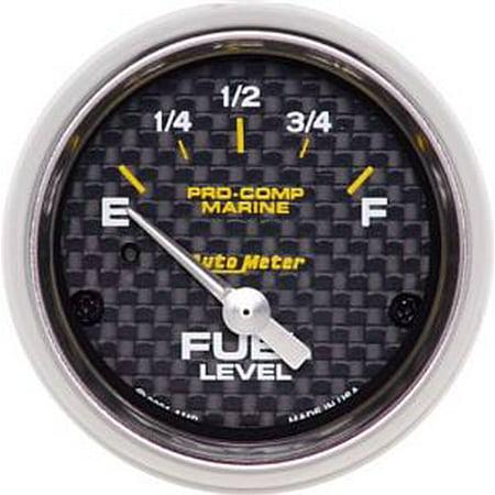 Auto Meter 200760-40 Fuel Level  - E - F - (240-33 Ohms Fuel) - Electronic - Carbon Fiber Marine