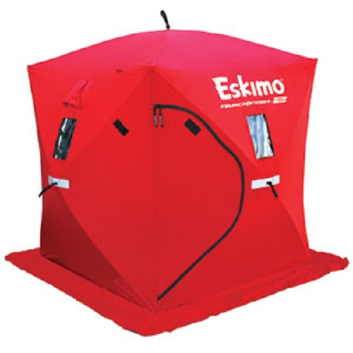 Eskimo Quickfish 2 69151 Portable Pop Up 2 Person Ice Fishing Shelter