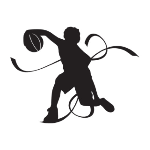 Style and Apply Basketball Player Wall Decal