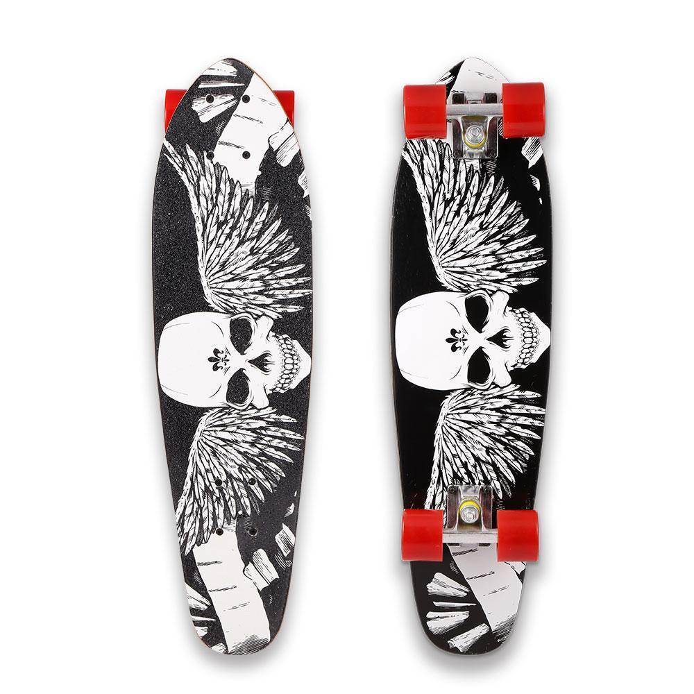 "Christmas Toy Clearance! 28 "" Skateboard Longboard Wooden Complete Deck Skate Board Kids Toy Outdoors Fun cbst by"