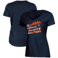 Virginia Cavaliers Women's 2019 NCAA Men's Basketball National Champions V-Neck T-Shirt - Navy
