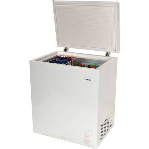 mini deep freezer haier 5 0 cu ft capacity chest freezer hf50cm23nw 29061