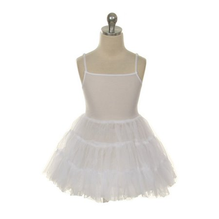 Kids Dream White Full Length Petticoat Slip Girls 2T