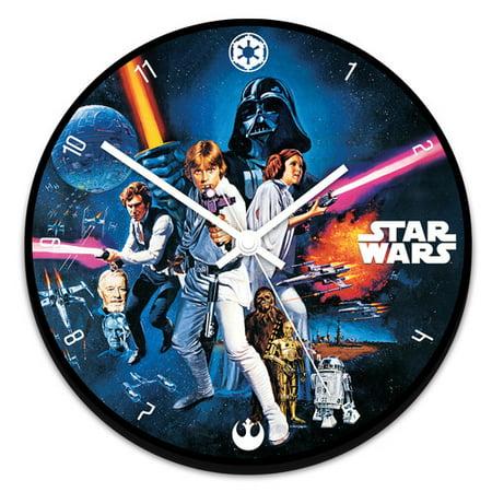Vandor LLC Star Wars 13.5 Cordless Wood Wall Clock