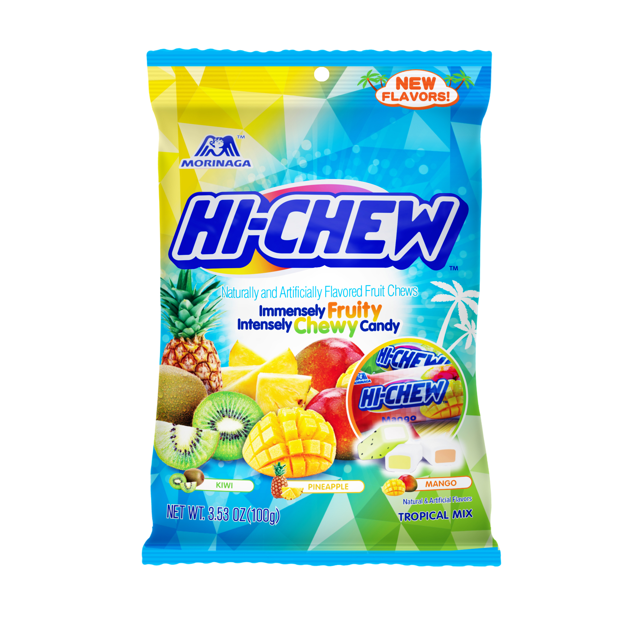 HI-CHEW Mango/Banana/Melon Fruit Chews, 3.53 oz