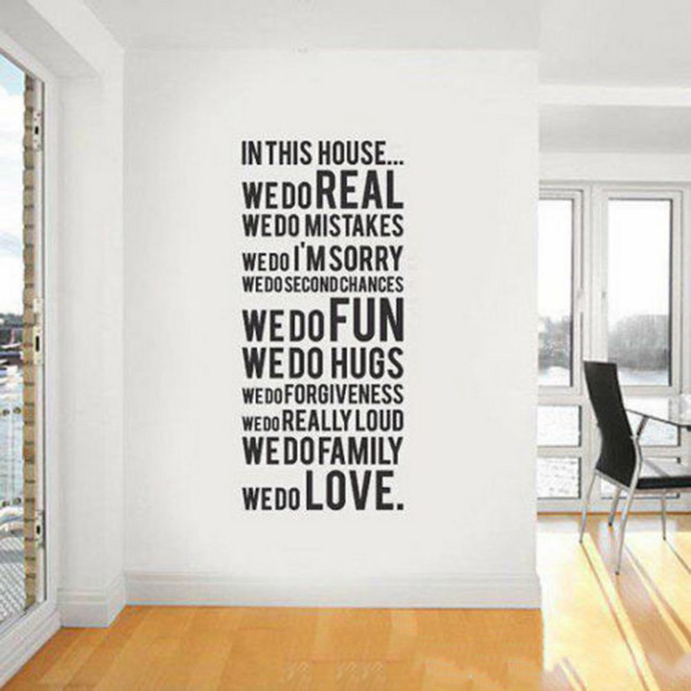 Wall Quote Letter Art Decal Removable Wall Stickers Art Home Decals Decor Walmart Canada