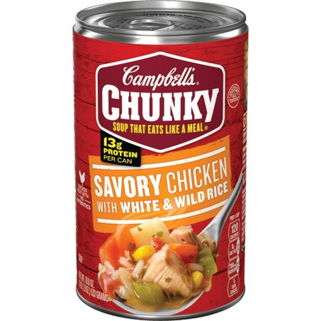 Campbell S Chunky Savory Chicken With White Wild Rice Soup 18 8