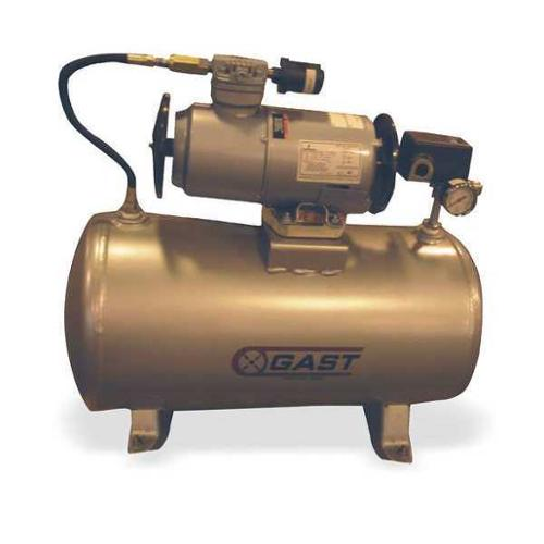 GAST 2LAF-246T-M200EX Electric Air Compressor,Tank Mounted