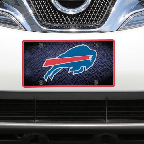 Buffalo Bills Teamball Acrylic Cut License Plate - No Size