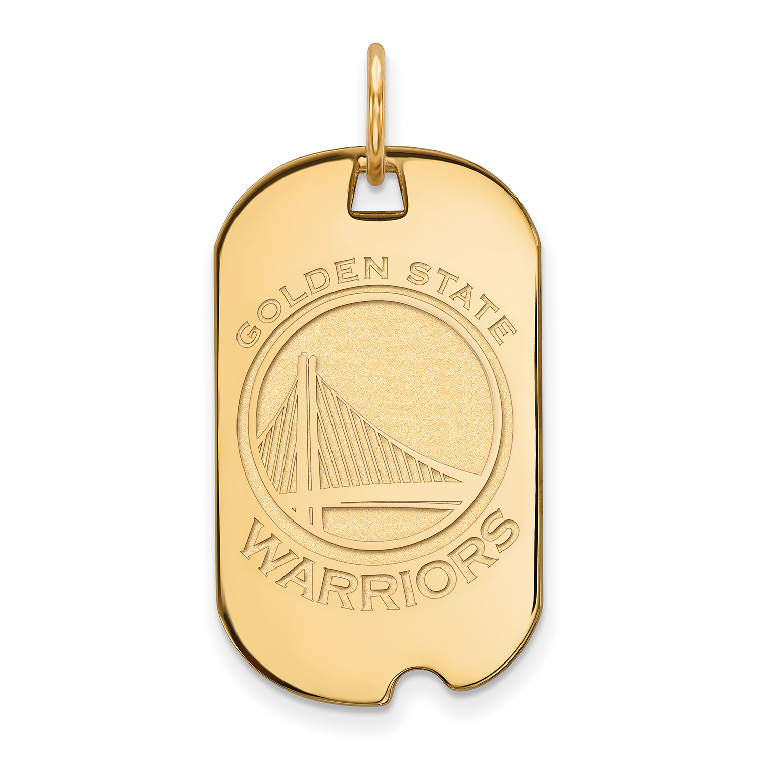 Golden State Warriors Women's Gold Plated Small Dog Tag - No Size