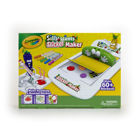 Christmas Crafts For Children (Crayola Silly Scents Sticker Maker, Gift for Kids, Ages 6, 7, 8,)