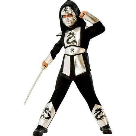 Boys Silver Dragon Ninja Costume (Boys Dragon Costume)
